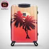 hardshell travel trolley luggage bag with zipper frame