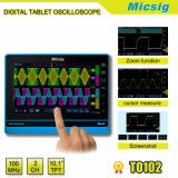 100MHz 2 channels digital tablet portable oscilloscope