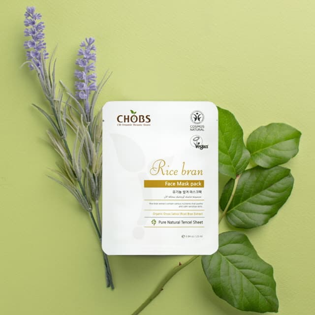 CHOBS Organic Rice Bran Mask Pack