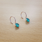 925 silver earrings colored jewelry