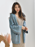 Cardigan_ Knitwear_ Wide Shoulder Line_  Ladies Clothing
