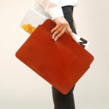 Leather clutch bag_Designer laptop bags_cover