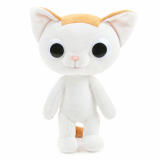 white cute cat plush toy