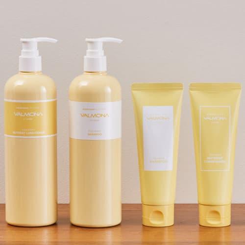 VALMONA Yolk Mayo Shampoo_Conditioner 480ml_100ml
