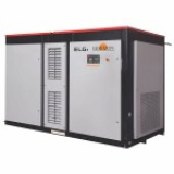 Tandem two stage screw air compressor