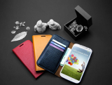 For Samsung Galaxy S4 Leather Case (Flip Cover)