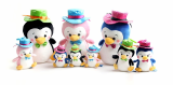 Little penguin plush toy with key ring