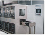 Automatic ultrasonic cleaning system for LCD optical cleaner