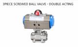 3PC SCREWD BALL VALVE - DOUBLE ACTING