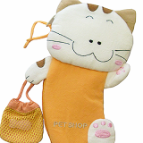 White cat pancil case