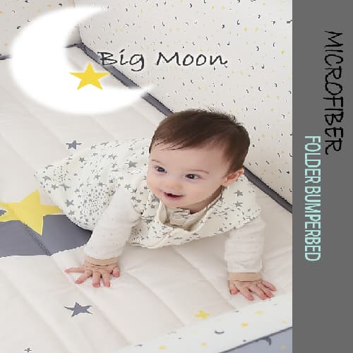 Microfiber foldable bumper bed _Big Moon_