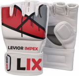 Leather Gel Tech UFC Grappling MMA Gloves Fight Boxing Punch