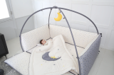 Lol co__ltd _ Microfiber Foldable Baby Bumper Bed