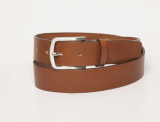 men_sbelt with logo patches in metal decoration