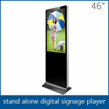46 inch floor standing digital signage screen