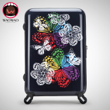 travel trolley luggage bag made of imported ABS PC