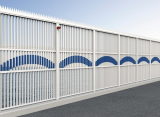Security fence with cutting edge plate