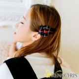 Renachris Check Ribbon hair clamp