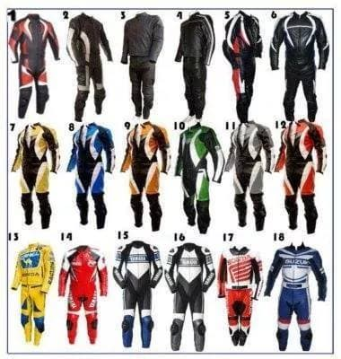 Motor Bike Leather Suit 1pc_2pc