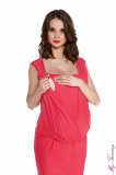 maternity clothes Maternity dress Lucy coral zoom.jpg