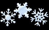 35mm felt white snowflake shape for window home decoration