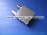 F connector with metal shield for catv FTTH