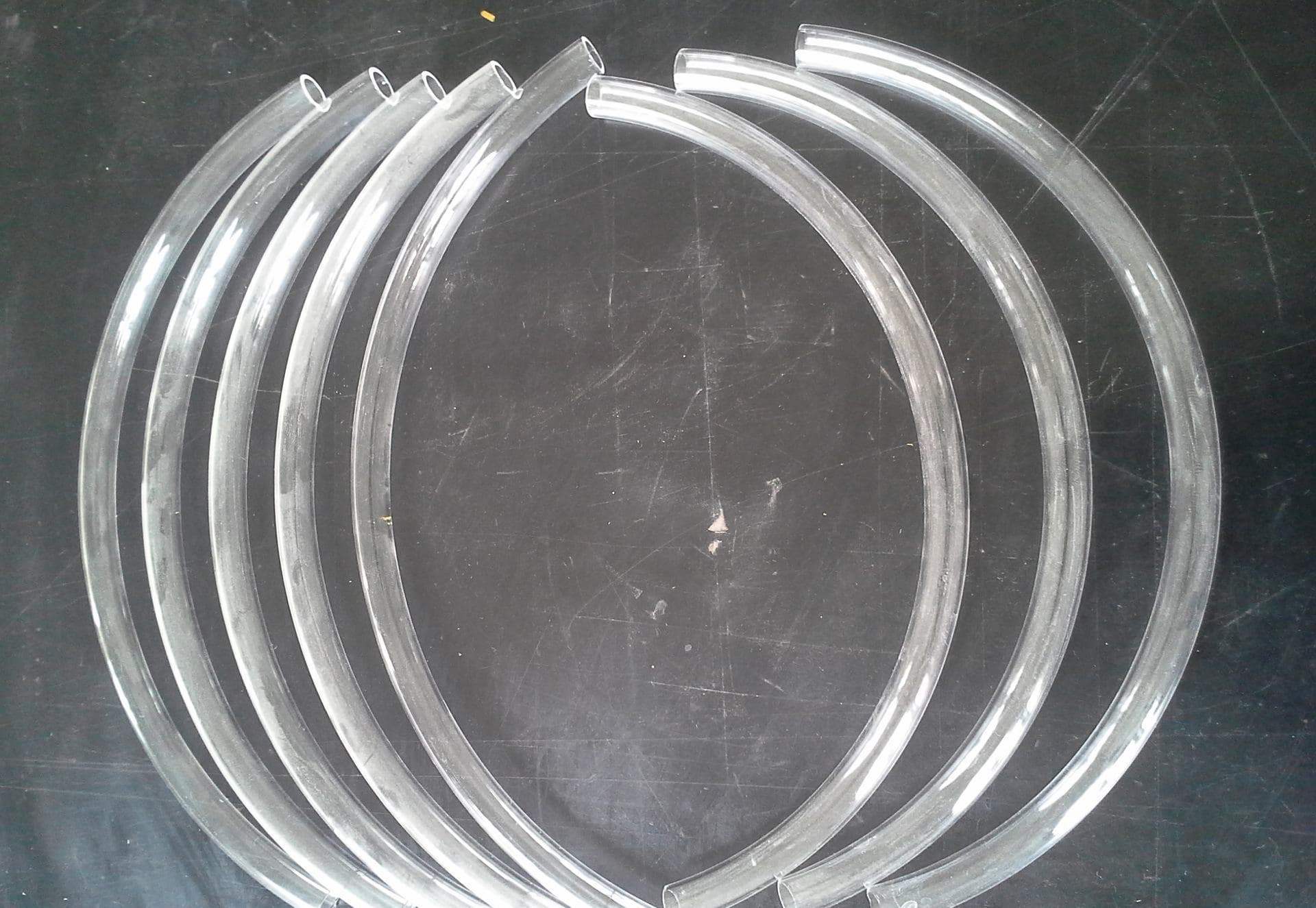 Spiral Clear Quartz Glass Tubes