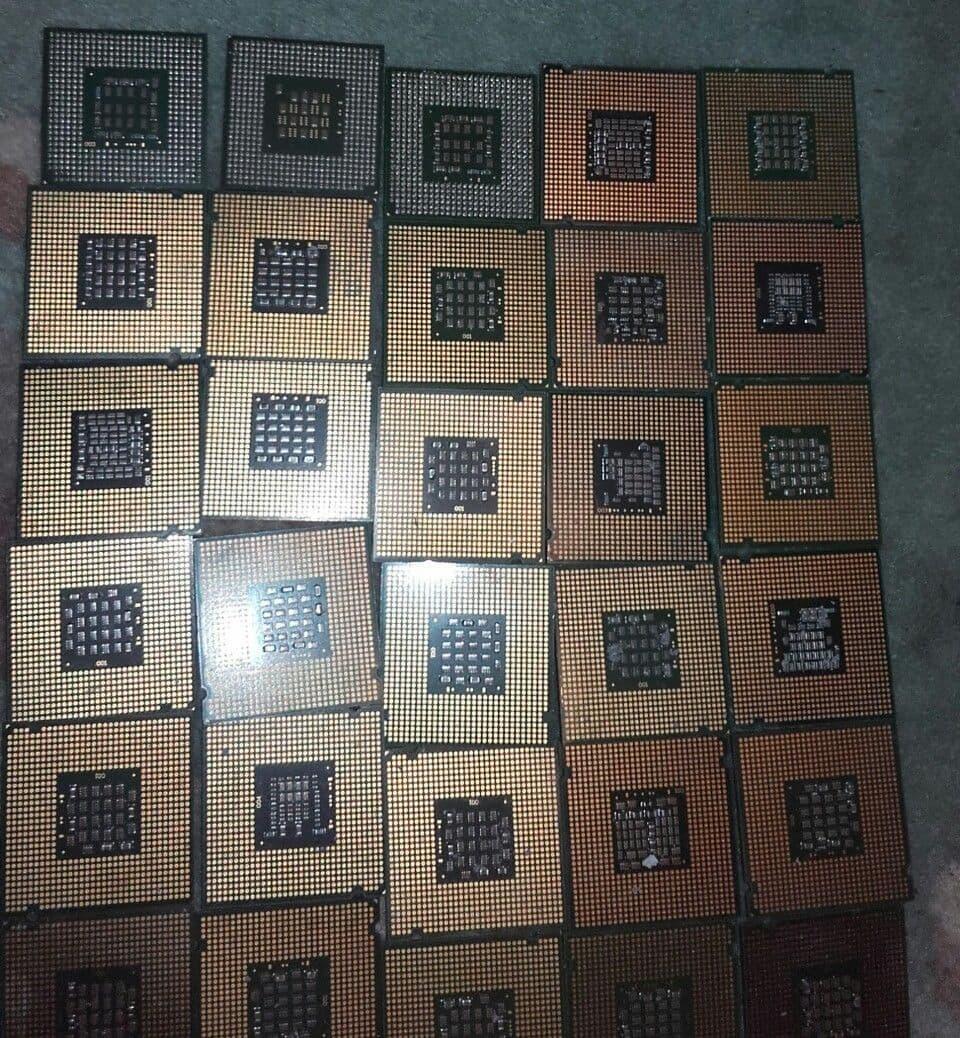 INTEL PENTIUM PRO Ceramic gold CPU for Scrap Gold Recovery Precious metals
