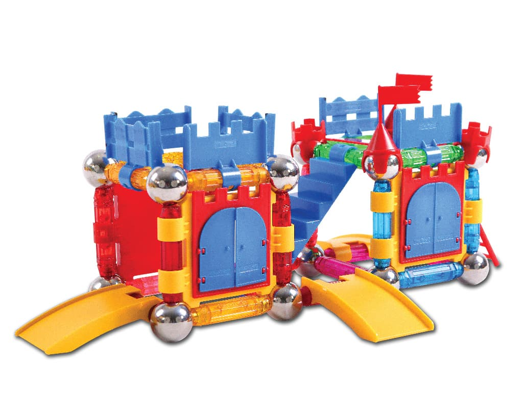 Click Block_ Magnet educational toy X_bar Castle Set 66pcs