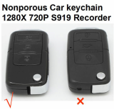 720P Nonporous Spy Car Keychain With Camera
