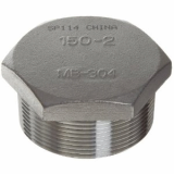 stainless ASTM A182 F317l hex head plug