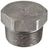 stainless ASTM A182 F316H hex head plug