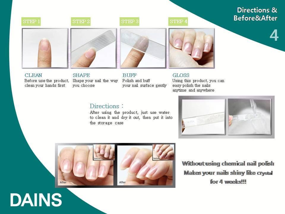 Nude Nail glass nail shiner (Nail file/Nail buffer) from Dains Co ...