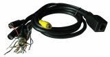 CCTV Matrix RG59 D-sub Cable with Nickel-plated BNC/DB15 Connector and 75-5 Coaxial Cable Conductor