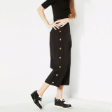 Button cropped pants