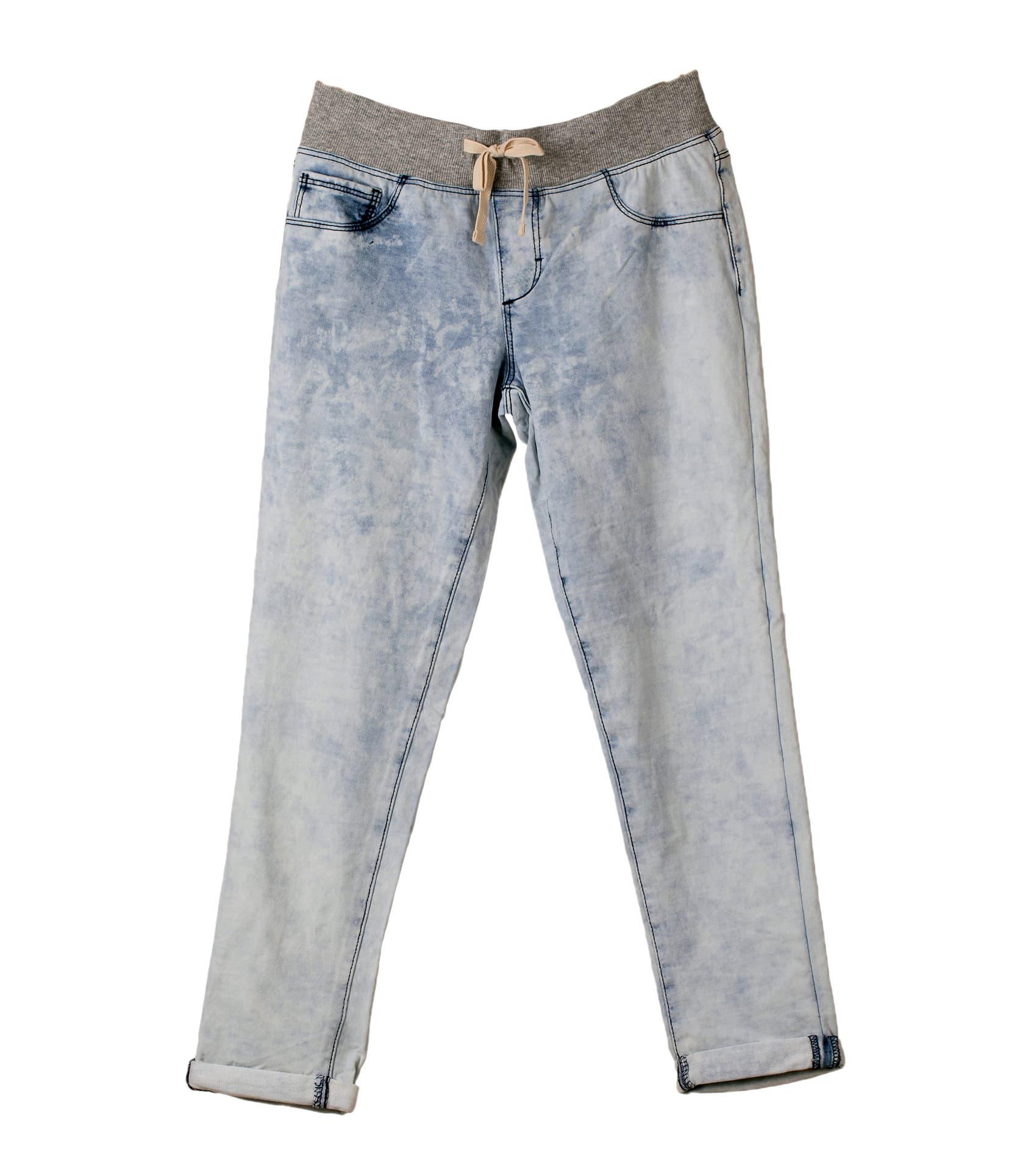 Girls Knit Denim Pant/Trouser Garments Stock Lot   tradekorea