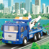MAX POLICE WRECKER -plastic toy car-