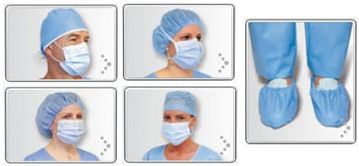Surgical _ Medical Mask_ shoe cover_ hair cap