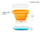 silicone furlable food container bowl possible in microwave