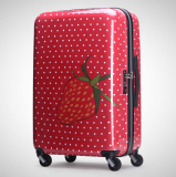 Fashion printing 20 24 28 inch trolley luggage suitcase
