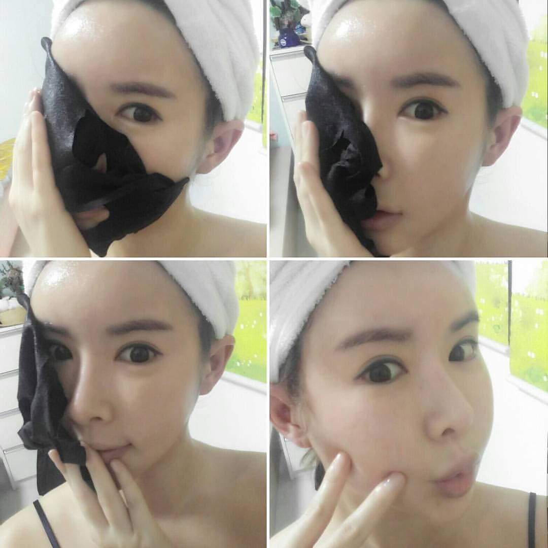 Black Charcoal Facial mask pack
