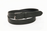 men_s black leather cowhide belt