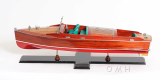 Wooden Model Boat Chris Craft Runabout Paint