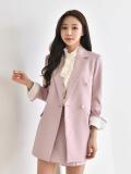 Jacket_ Outwear_ Coat_ Slim Line_ Pearl Buttons