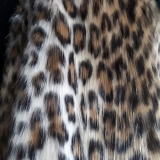 faux fur with leopard printed
