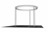 Arch truss circle truss