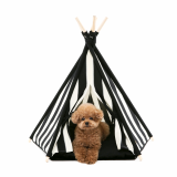 Huts and Bay_Teepee tent_Zip Stripe Blck