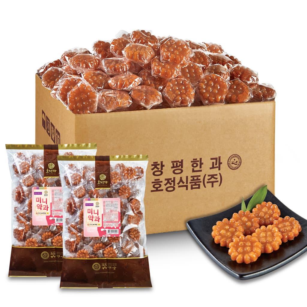 Hojeongga Yakgwa 2kg Box _Deep_fried Sweet Rice Cake_