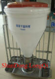 stainless steel and polyethylene Dry-wet feeder for Nursery crate