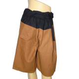 Fisherman Pants_ length short leg _Brown_Black_